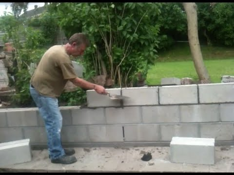 How to Build a retaining wall-Garden project