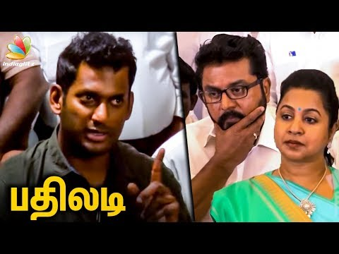 Vishal's Strong Reply to Sarathkumar | Producer Council Issue | Raadhika