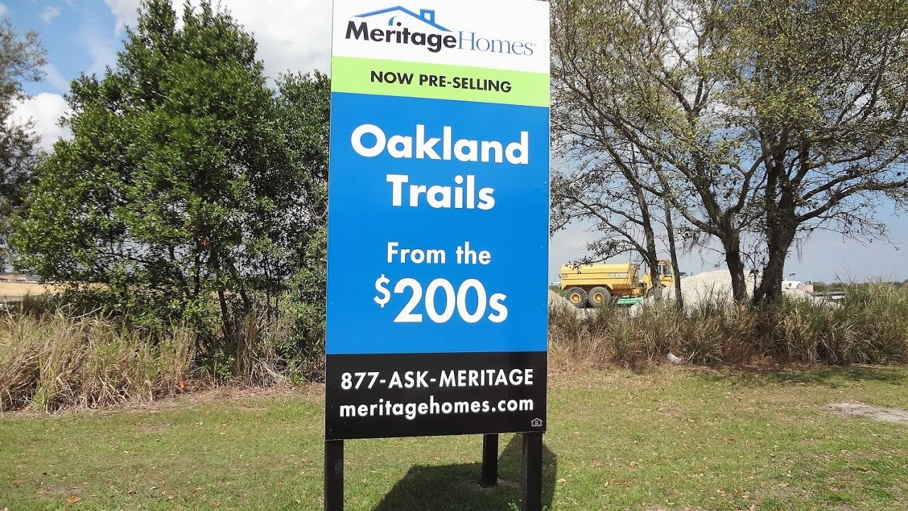 winter garden new homes oakland trails by meritage homes youtube