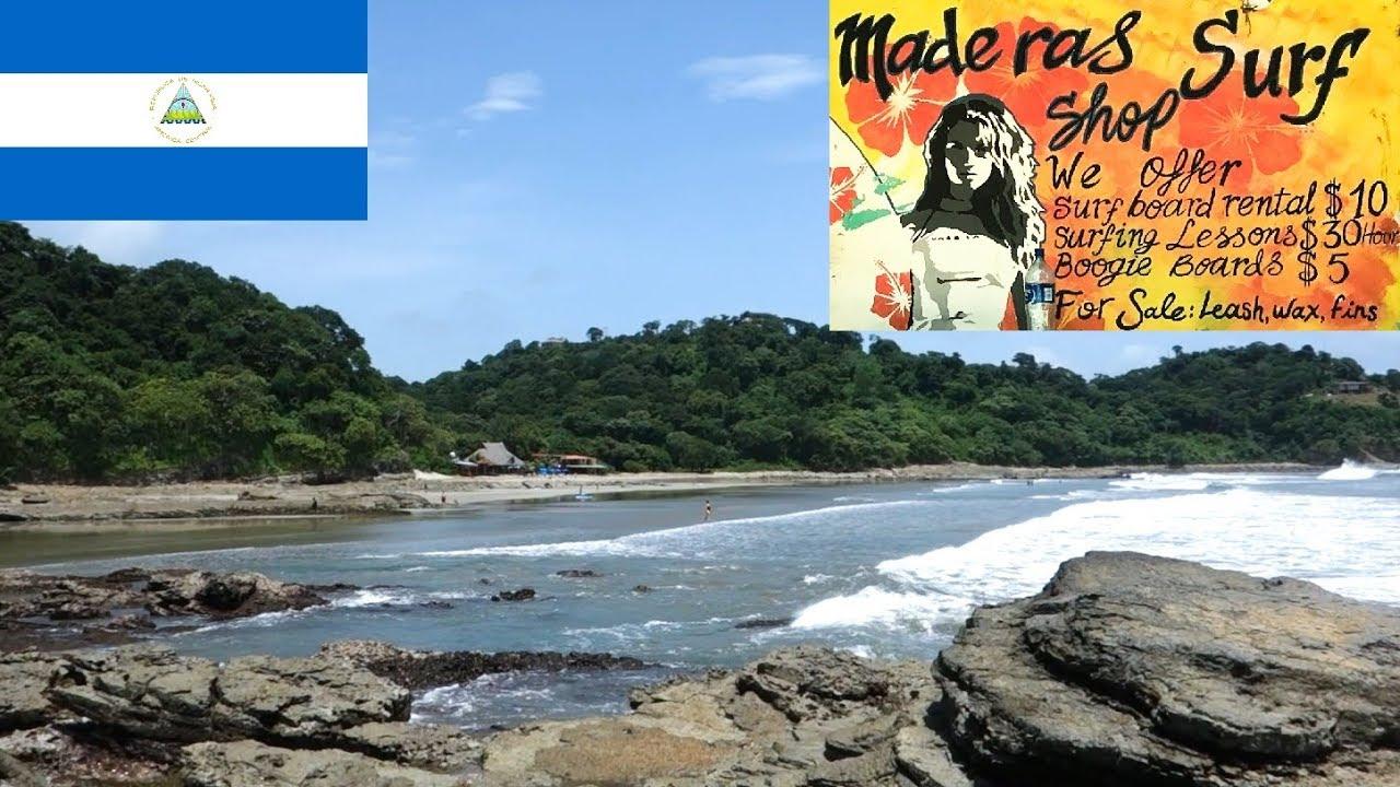 Nicaragua San Juan Del Sur Playa Maderas Surf Beach