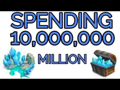 10 Million Blue Crystals Castle Clash