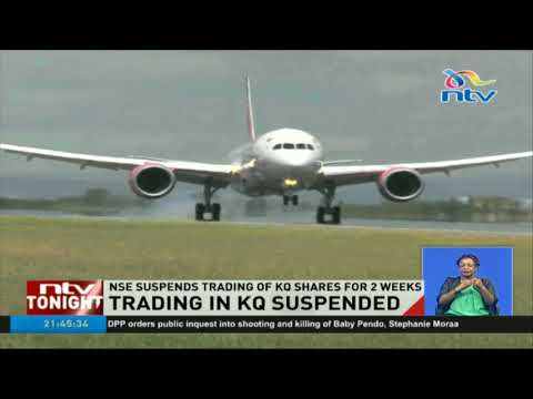 NSE suspends trading of KQ shares for two weeks