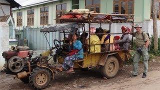 Myanmar ( Burma ) antique cars in Kalaw, Shan State !