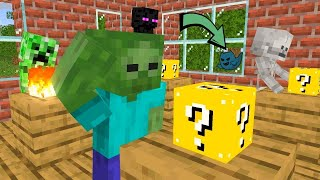 Monster School : OPEN LUCKY BLOCK FUNNY CHALLENGE - Minecraft Animation