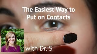 The Easiest Way to Put on Contacts