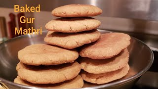 Baked Gud Mathri - Healthy & Tasty Indian Sweet Biscuits