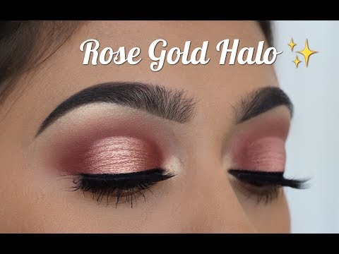 How to - Rose gold halo cut crease