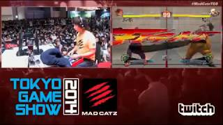 Tokyo Game Show 2014 Mad Catz exhibition match - Ultra Street Fight...