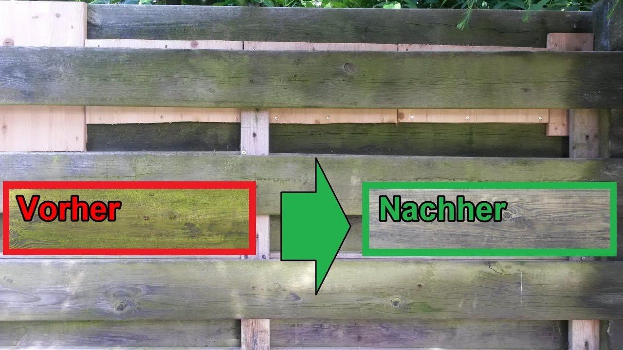 gr nspan von holz zaun terrasse mit hausmittel m helos entfernen holz vom moos reinigen. Black Bedroom Furniture Sets. Home Design Ideas