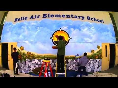 Belle Air Elementary School Mural
