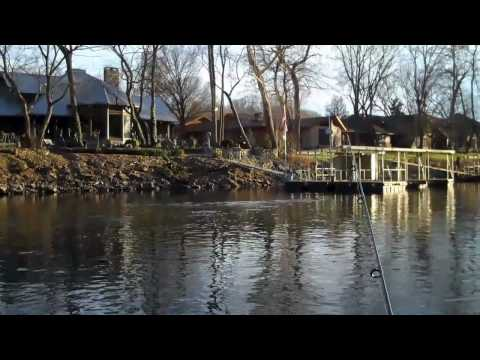 Fishing Worms For Trout On Lake Taneycomo