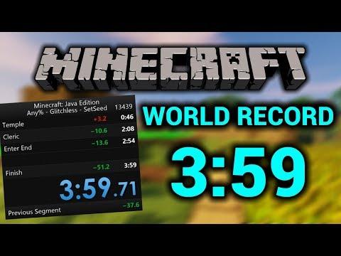 NEW MINECRAFT WORLD RECORD! | 3:59.71 Speedrun