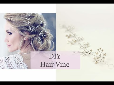 How To Make Hair Vine Bridal Accessory Headband Tiara Crown DIY Simple Tutorial