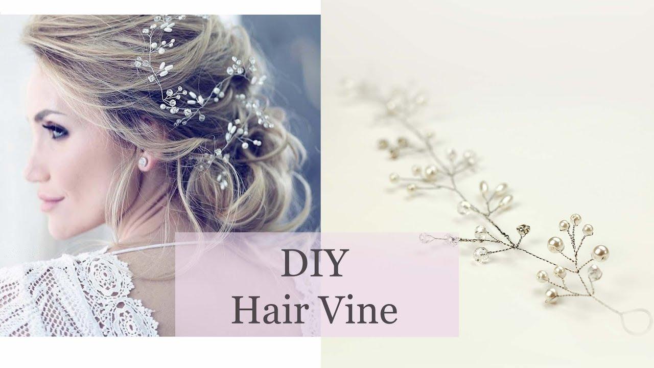 How To Make Hair Vine Bridal Accessory Headband Tiara Crown DIY ...