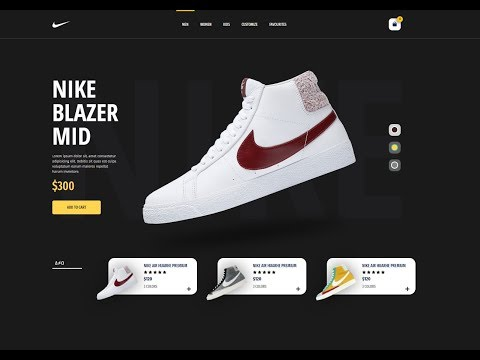 Nike Blazzer Mid Product design - HTML/CSS Tutorial thumbnail