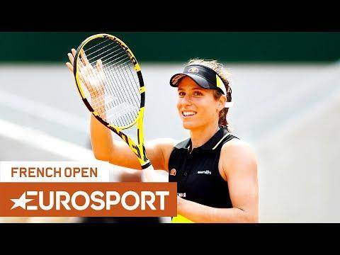 Sloane Stephens vs Johanna Konta Highlights | Roland Garros 2019 Quarter-Final | Eurosport
