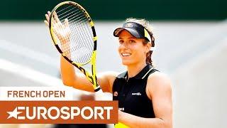 Sloane Stephens vs Johanna Konta Highlights   Roland Garros 2019 Quarter-Final   Eurosport