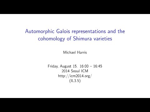 ICM2014 VideoSeries IL3.5 : Michael Harris on Aug15Fri