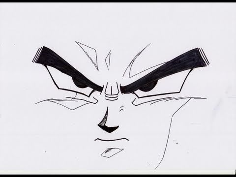 No 143 How To Draw Dbz Face ドラゴンボールz の 顔 Youtube