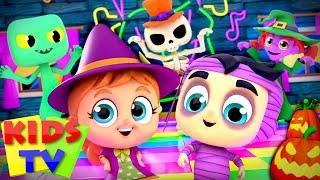 Monster Dance Party Challenge | Halloween Music | Spooky Songs | Scary Nursery Rhymes | Kids Tv