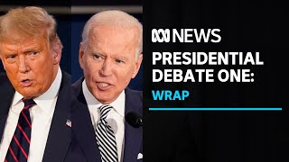 Trump and Biden face off in chaotic first debate | ABC News