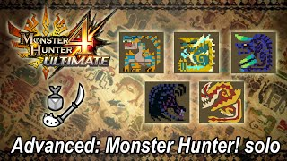 MH4U Advanced: Monster Hunter! solo (Insect Glaive) - 18'06''20