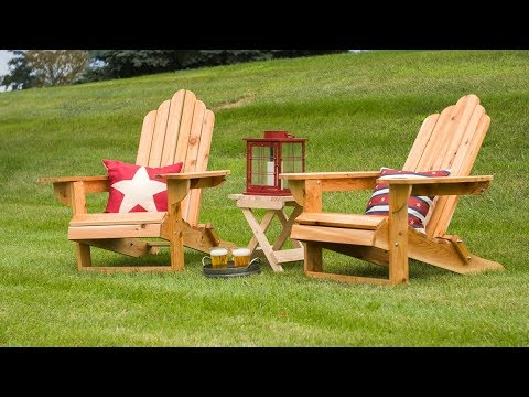 How To Build A Folding Adirondack Chair - Saturday Morning Workshop