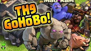 TH9 Stone HoBo Guide - Th9 3-Star War Strategy Walk Through - Clash of Clans - Best TH9 Attacks
