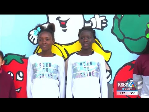 Students dress up for Twos Day/Twins Day at Santa Maria school