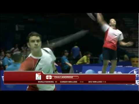 Group (Day 1) - China (Chai/Guo) vs England (Langridge/Mills) - Thomas Cup 2012