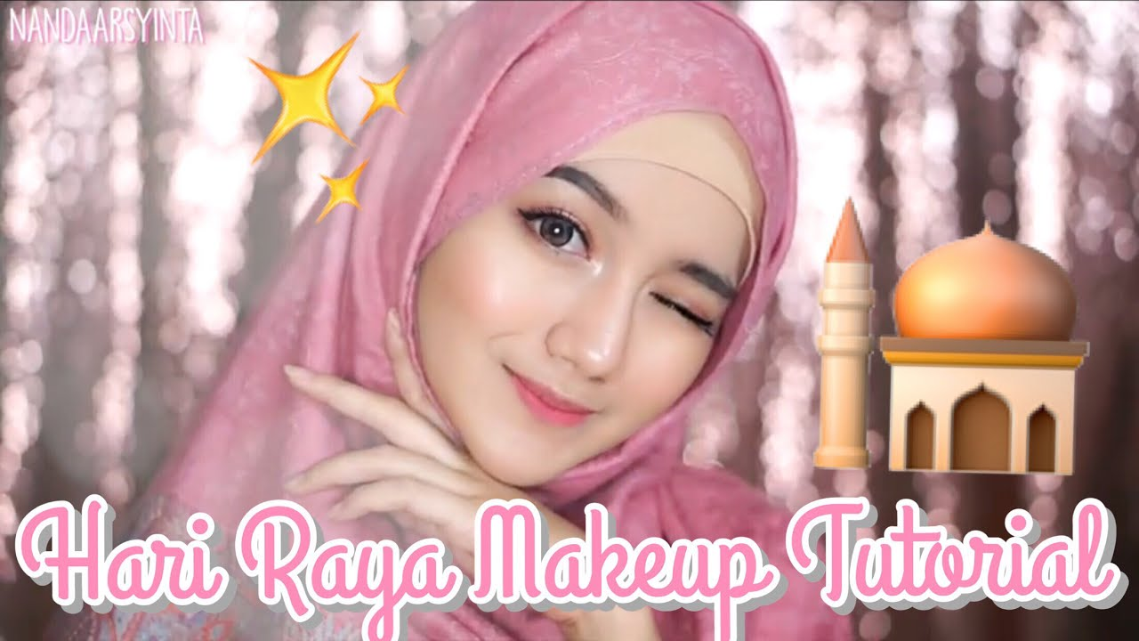 hari raya makeup tutorial || eid - lebaran [bahasa] - youtube