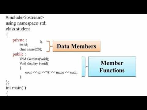 50  Data Member and Member Functions in C++ (Hindi) - YouTube