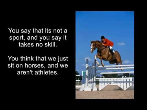 so you think equestrian is easy?  L.A project