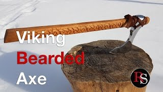 Making A Viking Bearded Axe (Skeggox) From An Old Axe