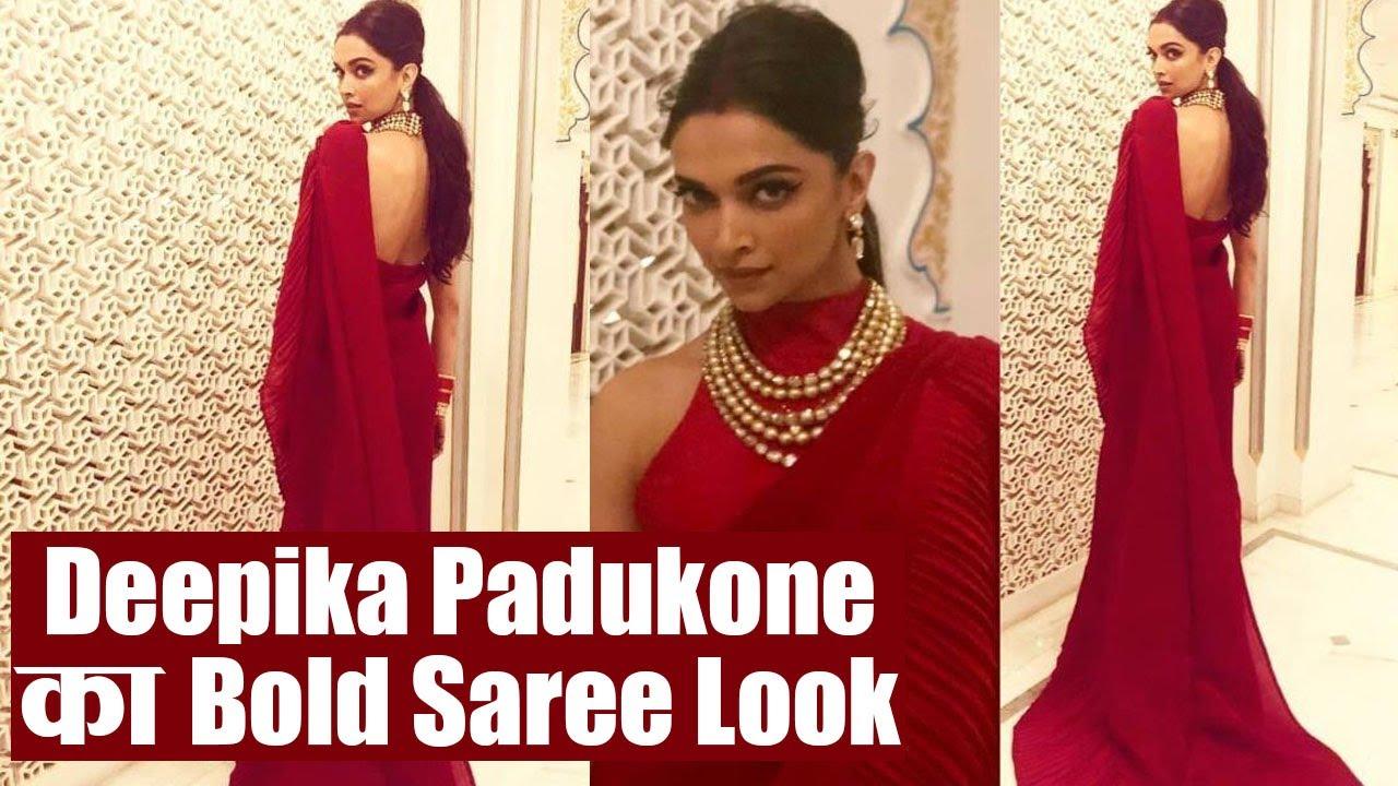 bc7a1ffefb Isha Ambani Wedding: Red Saree में Deepika Padukone का स्टनिंग लुक    वनइंडिया हिन्दी