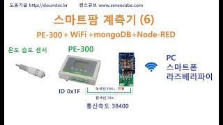 스마트팜 계측기 (6) mongoDB Node-RED …