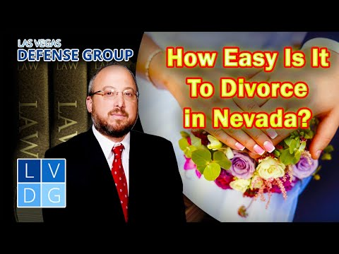 Is it easy to get a divorce in Las Vegas? Nevada family law attorneys