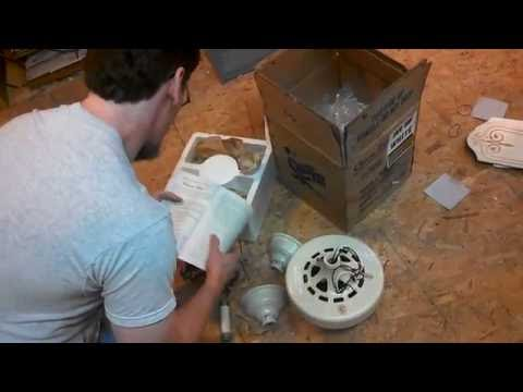 Classic Fan Co Ceiling Fan Unboxing & Repair