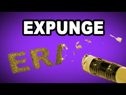 Learn English Words - EXPUNGE - Meaning, Vocabulary with Pictures and Examples