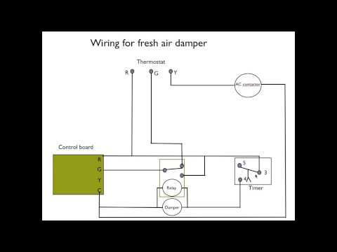 How to wire the fresh air damper - YouTubeYouTube
