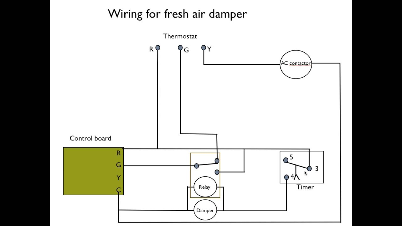How to wire the fresh air damper - YouTube | Hvac Damper Wiring |  | YouTube