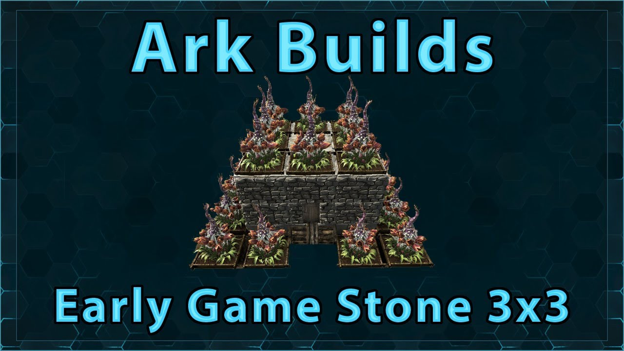 Ark builds early game stone 3x3 youtube ark builds early game stone 3x3 malvernweather Choice Image