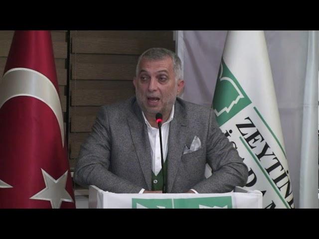 AK Parti İstanbul Milletvekili Metin Zeytinburnu İşadamları Derneğinde verdiği konferansta çok çarpı