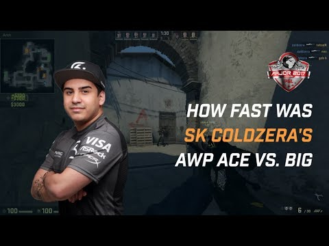 How fast was SK Coldzera's Ace vs. BIG?