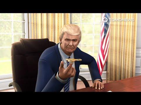 President Donald Trump has some serious Fidget Spinner fever - TomoNews