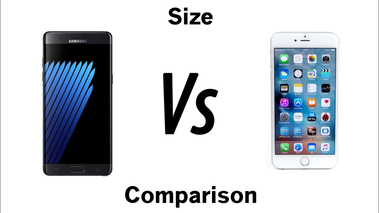 Galaxy Note 7 Vs IPhone 6s Plus