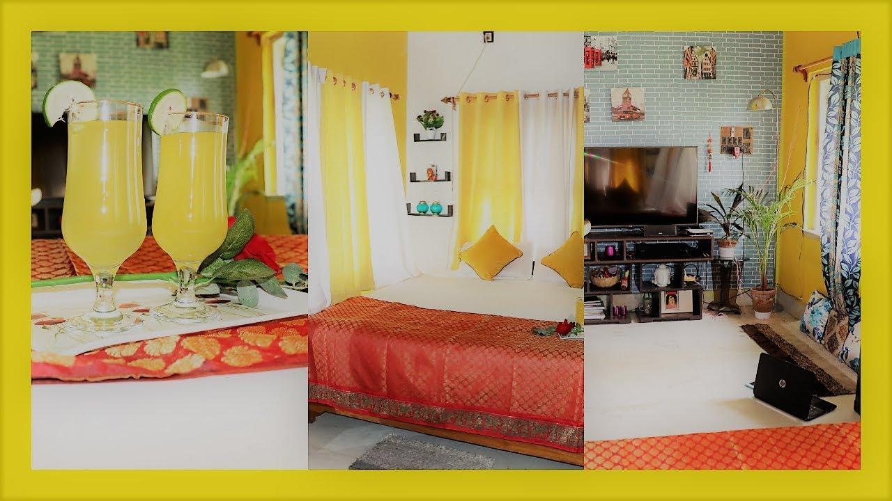 SIMPLE BEDROOM INTERIOR DECORATION IDEAS|BEDROOM TOUR|BEDROOM KI SAJAWAT KAISE KARE