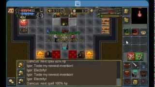 Tibiame Boss Igor tutorial - 3 people -  Warrior Blocking - GANICUS