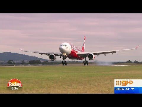 Inaugural Air Asia A330 Landing at Avalon International Airport