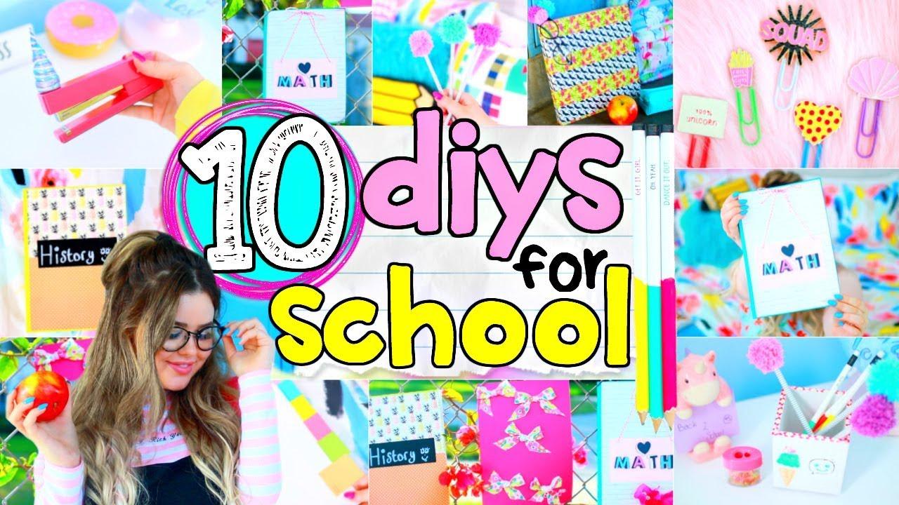 10 Diy School Supplies 2017 Easy 5 Minute Crafts Back To School Diy Projects Ideas